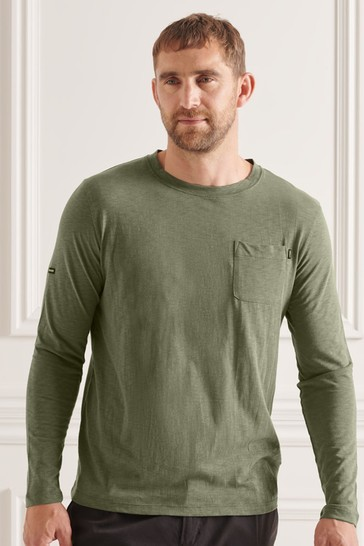Superdry Studios Slub Long Sleeve Pocket T-Shirt