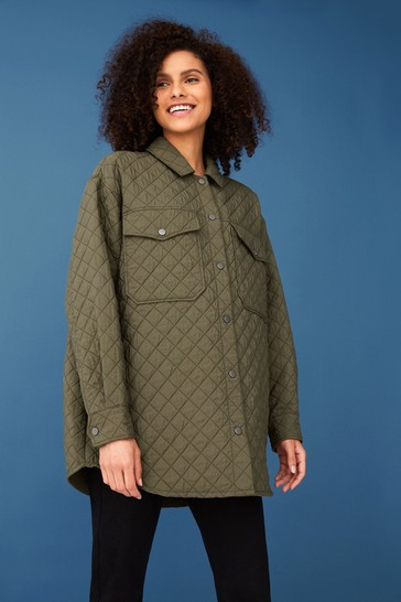 F&F Green Quilted Shacket