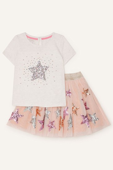 Monsoon Star Top and Skirt Set