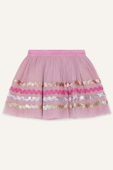 Monsoon Disco Sequin Wave Skirt