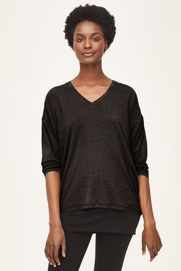 Thought Eliza Seacell™ Black Long Sleeve Top