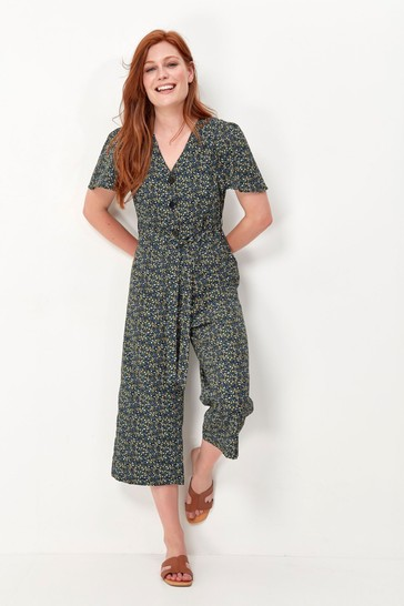 M&Co Green Ditsy Floral Jumpsuit