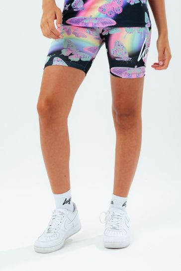 Hype. Black Butterfly Glow Cycling Shorts