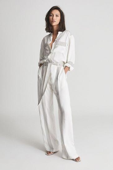 Reiss Sedona Striped Jumpsuit