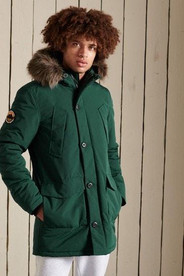 Superdry Green Everest Parka Coat