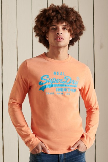 Superdry Orange Vintage Logo American Classic Top