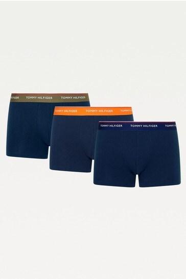 Tommy Hilfiger Blue Premium Essentials Boxers 3 Pack
