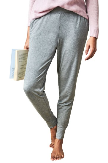 Pure Collection Grey Soft Jersey Trousers
