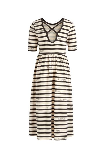 Girls Grey Striped Dress