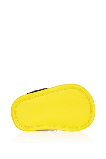 Baby Yellow Leather Sandals