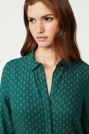 f58698335a Comprar Vestido camisero en verde azulado estampado de Next España