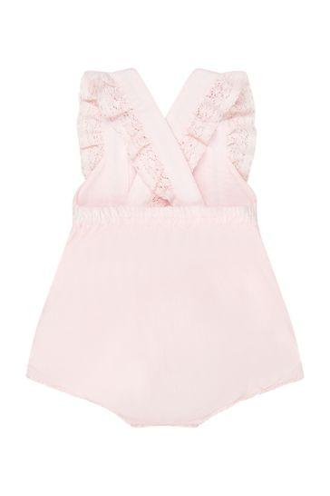 Baby Girls Pink Cotton Romper