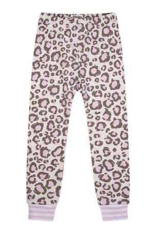 Girls Organic Cotton Leopard Print Pyjamas Two Pack