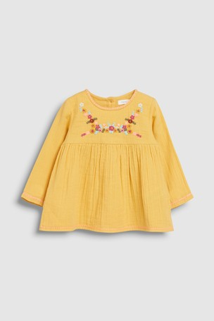 Ochre Embroidered Blouse (3mths-7yrs)