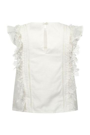 Girls Ivory Cotton Blouse