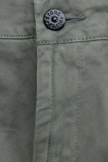 Boys Grey Cotton Cargo Trousers