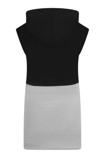 걸스 블랙 코튼 블렌드 드레스