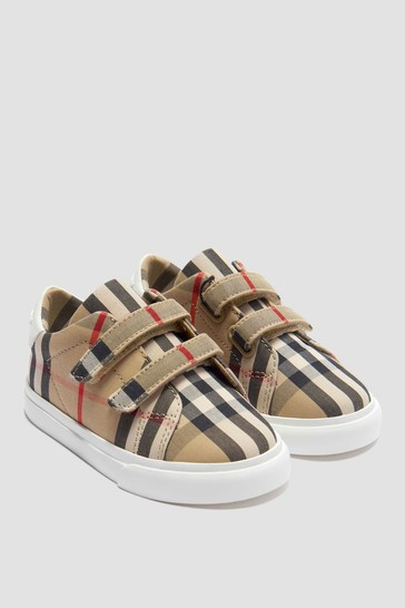 Baby Trainers - Baby Vintage Check & White Markham Trainers