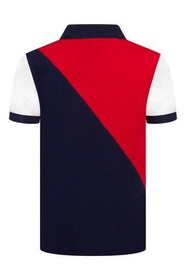 Boys Red Piqué Poloshirt