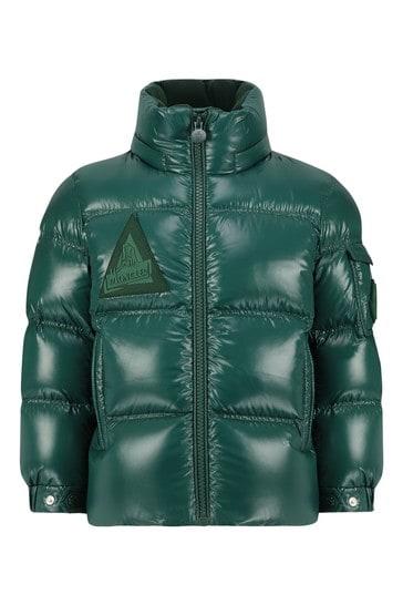 Boys Green Down Padded Ecrins Jacket