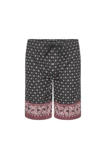 Boys Black Cotton Shorts