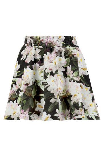 Girls Black Cotton Skirt