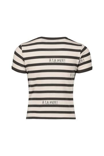 Kids Grey Striped TENCEL™ T-Shirt