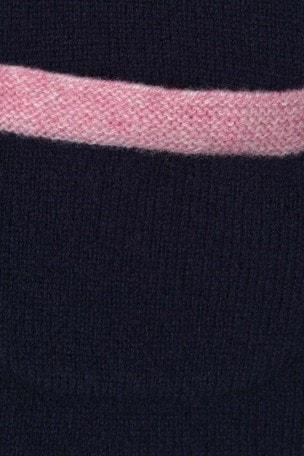 Girls Navy Merino Wool Swing Sweater