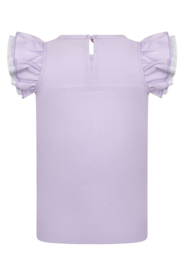 Baby Girls Lilac Cotton Girls T-Shirt