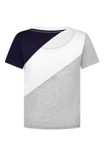 보이즈 그레이 코튼 티셔츠
