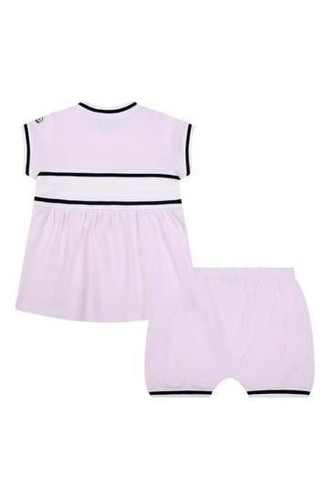 Baby Girls Pink Cotton Shorts Set