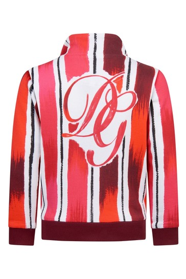 Dolce & Gabbana Boys Red Cotton Sweat Top
