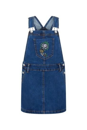 걸즈 블루 코튼 드레스