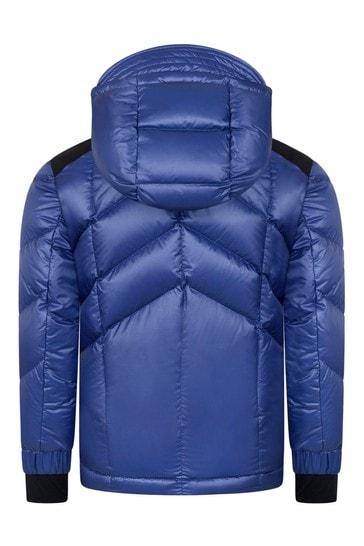 그르노블 보이즈 블루 다운 패딩 아넨제 스키 재킷