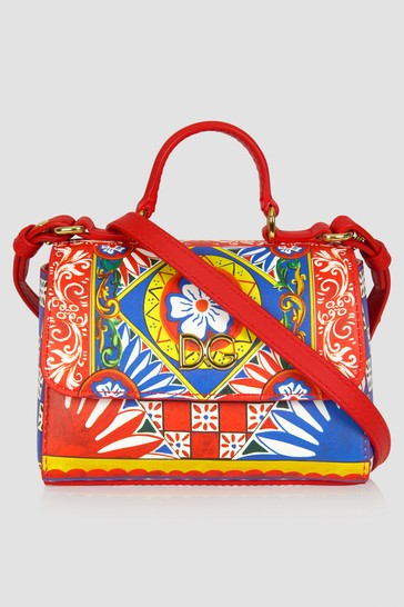 Dolce & Gabbana Girls Red Leather Bag
