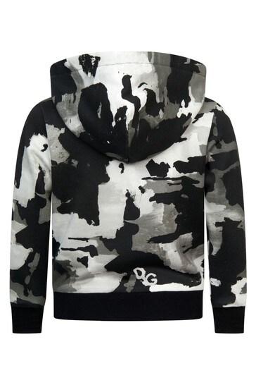 Dolce & Gabbana Boys Khaki Cotton Hoody