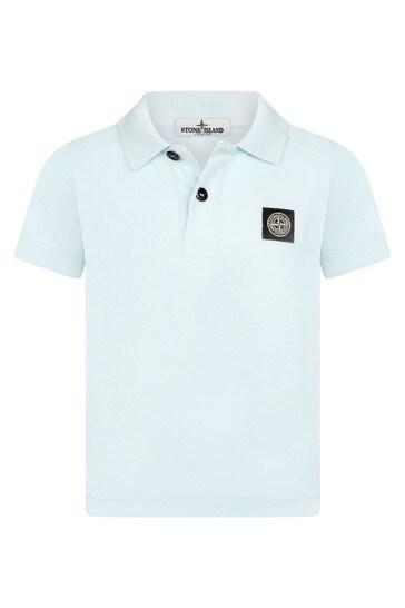 Boys Blue Cotton Poloshirt