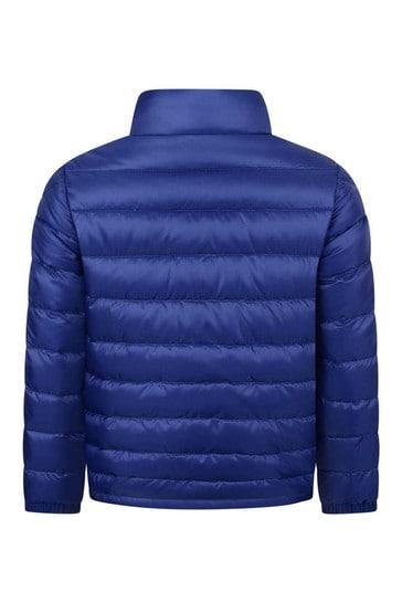 Boys Cobalt Blue Down Padded Tarn Jacket
