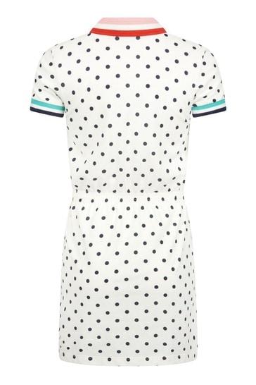걸스 크림 코튼 드레스