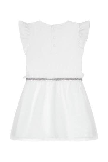 아기 소녀 화이트 코튼 드레스