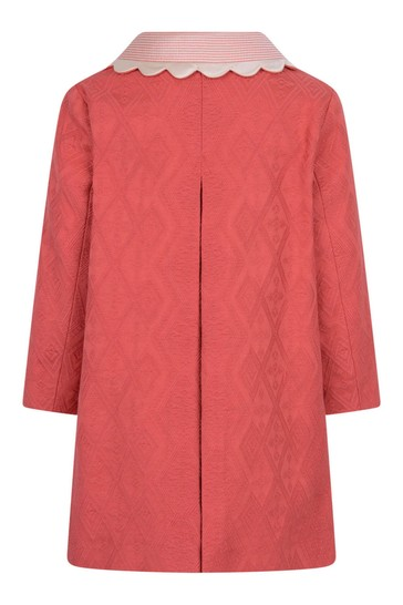 아기 소녀 Fuchsia 자카드 코트
