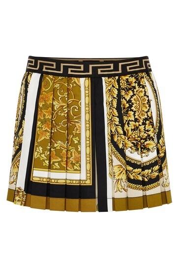 Baby Girls Gold Cotton Skirt