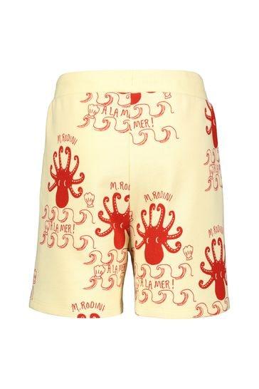 Girls Ivory Organic Cotton Octopus Shorts