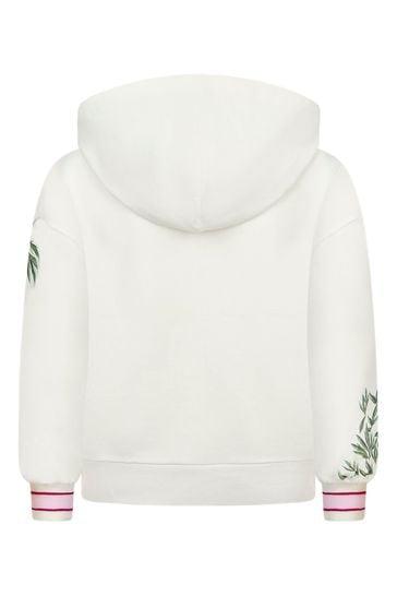 Girls Cream Cotton Hoody