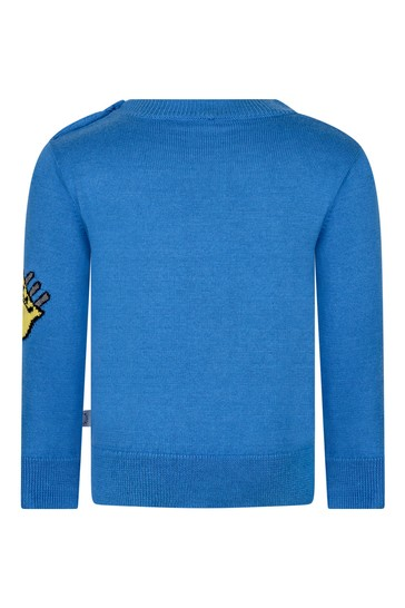Baby Boys Blue Guitar Sweater