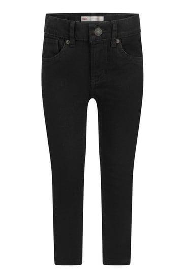 Levi's® Boys Black Cotton Stretch Skinny Jeans