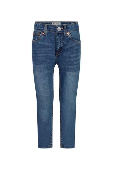 Boys Blue Cotton Blend Jeans