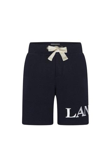 Boys Navy Cotton Shorts