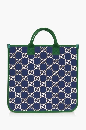 Girls Blue Cotton Bag