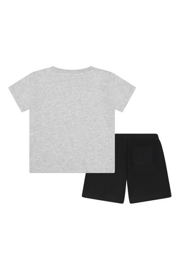 Baby Boys Grey Cotton Outfit